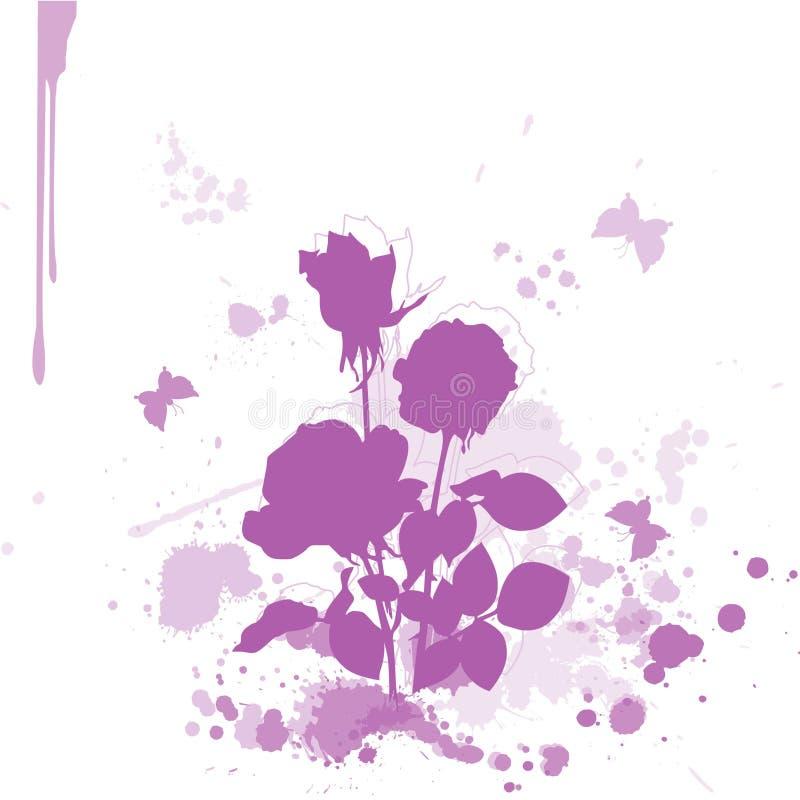 Flor de la acuarela fotos de archivo
