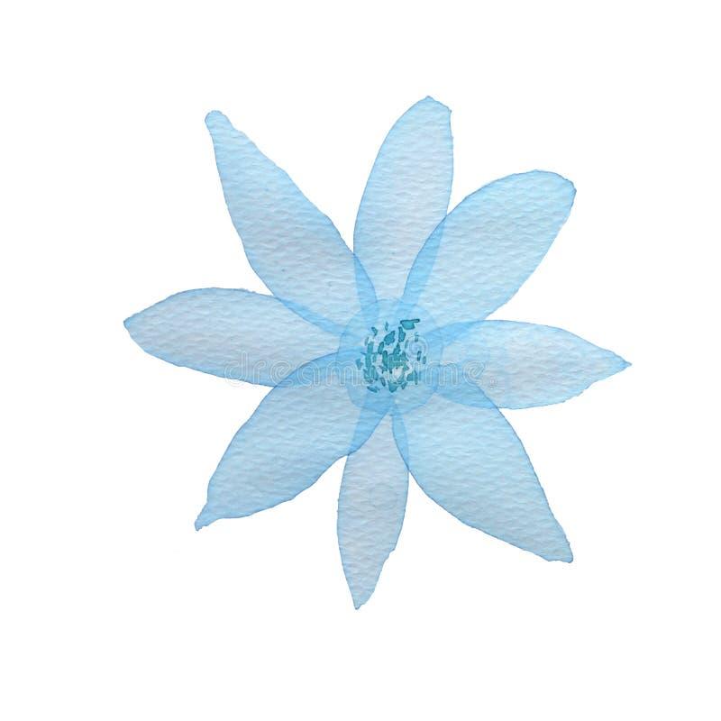 Flor de la acuarela en el fondo blanco libre illustration