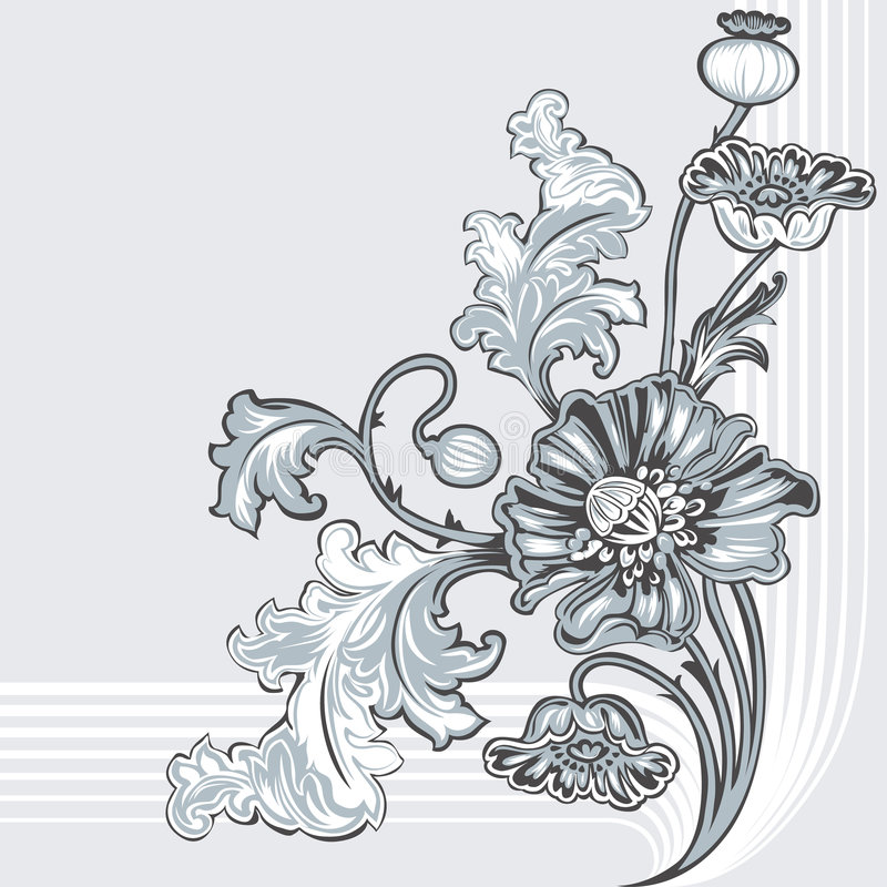 Flor de la amapola ilustración del vector