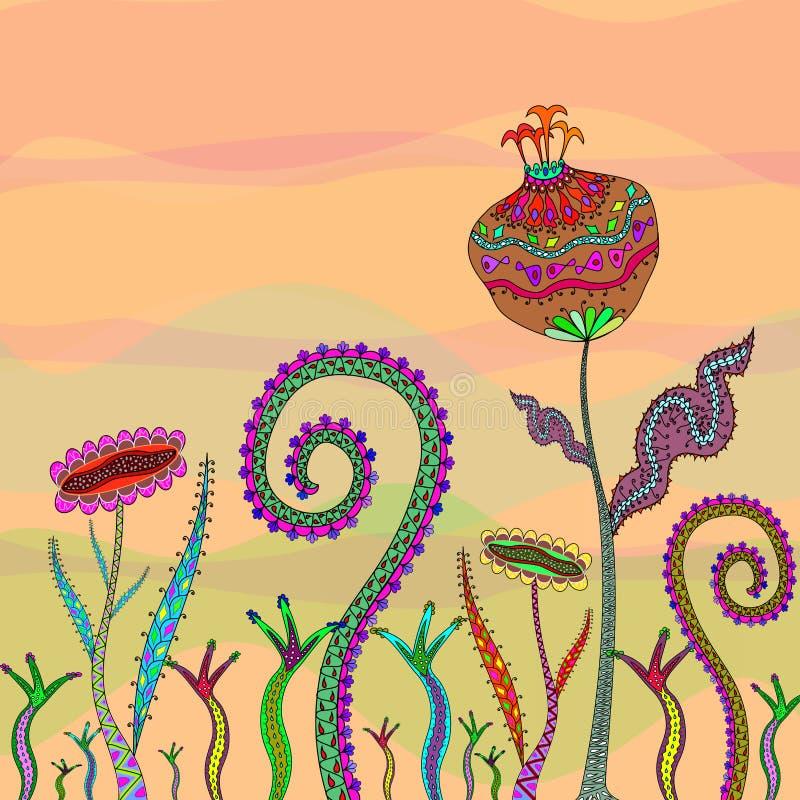 Flor de la fantasía stock de ilustración