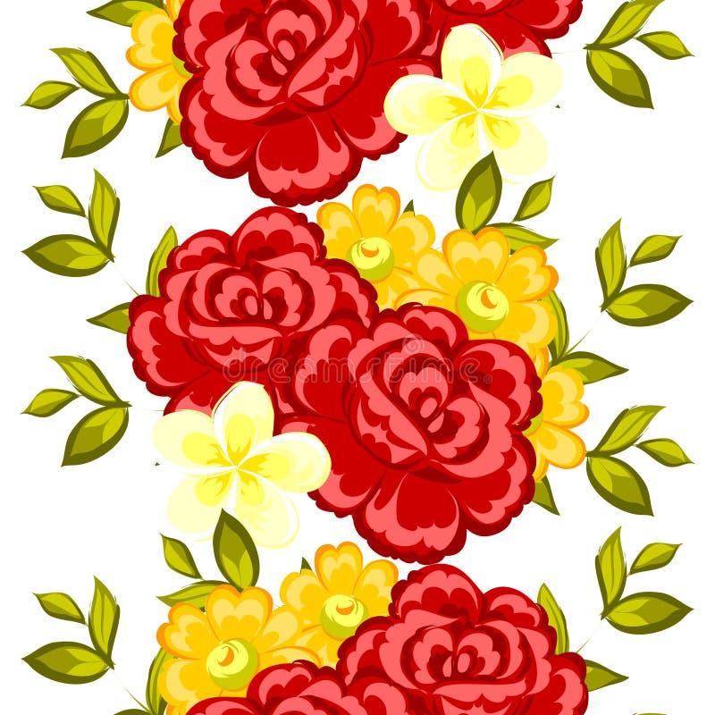 Flor de la flor Modelo botánico romántico stock de ilustración