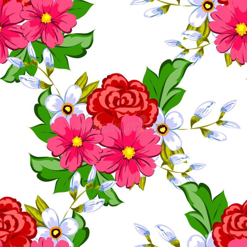 Flor de la flor Modelo botánico romántico libre illustration