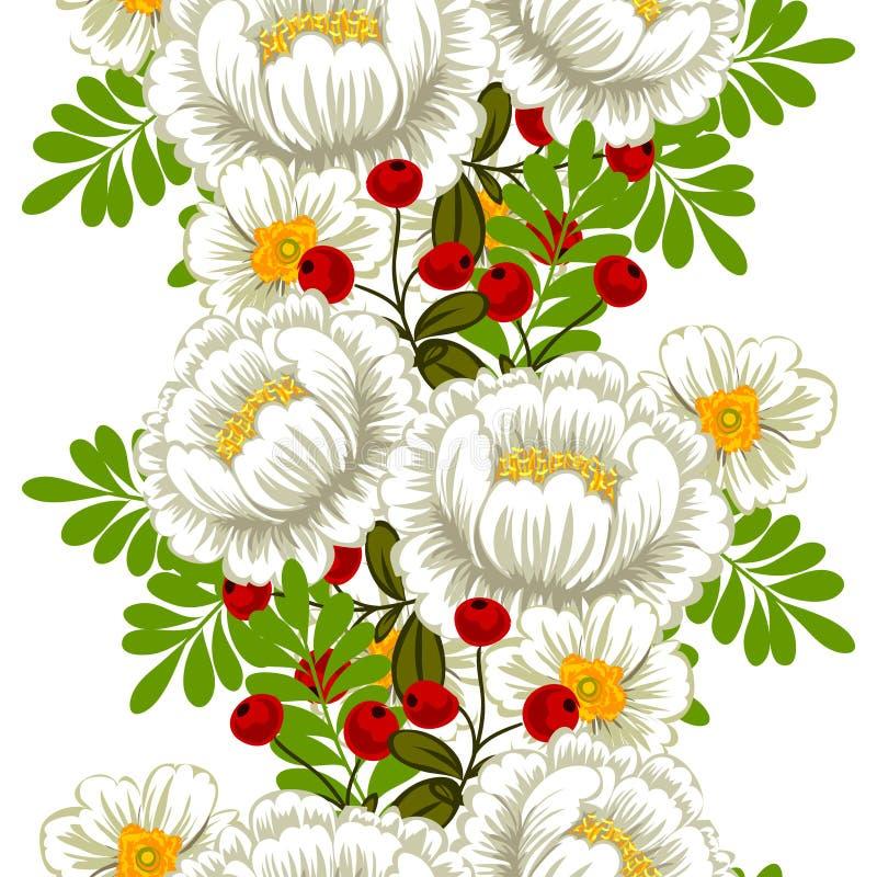 Flor de la flor Modelo inconsútil de la elegancia abstracta stock de ilustración