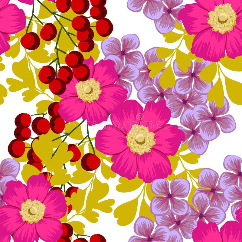 Flor de la flor Modelo inconsútil de la elegancia abstracta ilustración del vector