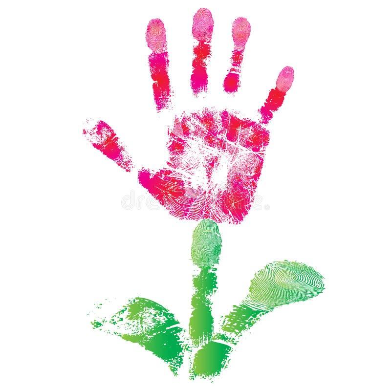 Flor de la impresión de la palma stock de ilustración