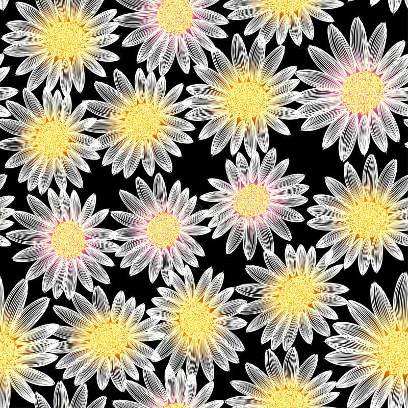 Flor de la margarita blanca en un modelo inconsútil libre illustration