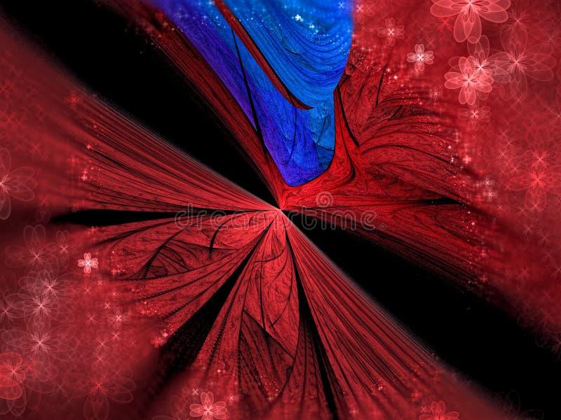 Flor de la perspectiva del fractal - resuma la imagen digital generada stock de ilustración