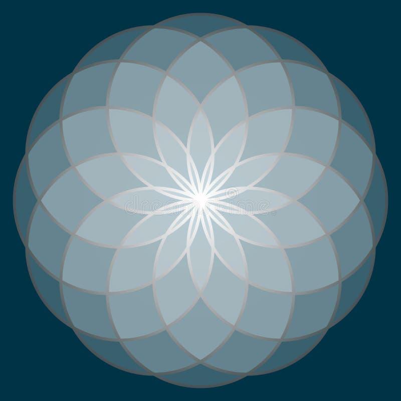 Flor de la vida Geometría sagrada foto de archivo