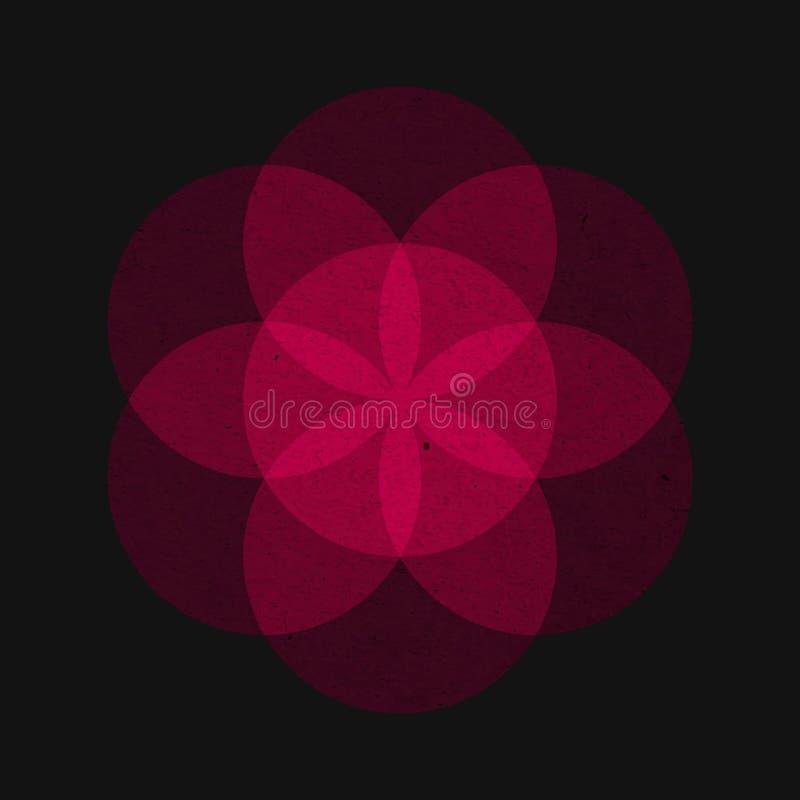Flor de la vida, vector imágenes de archivo libres de regalías