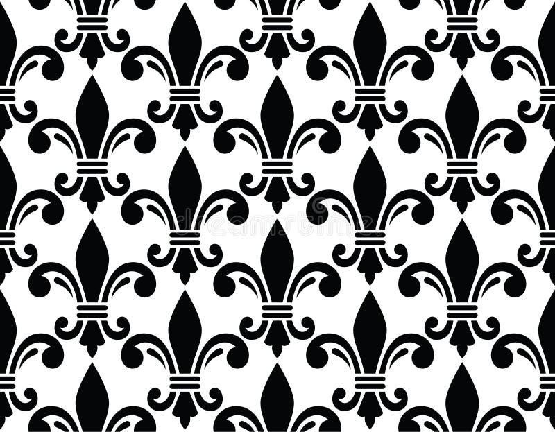 Flor de lis - diseño francés del símbolo, organizaciones de exploración, heralry francés libre illustration