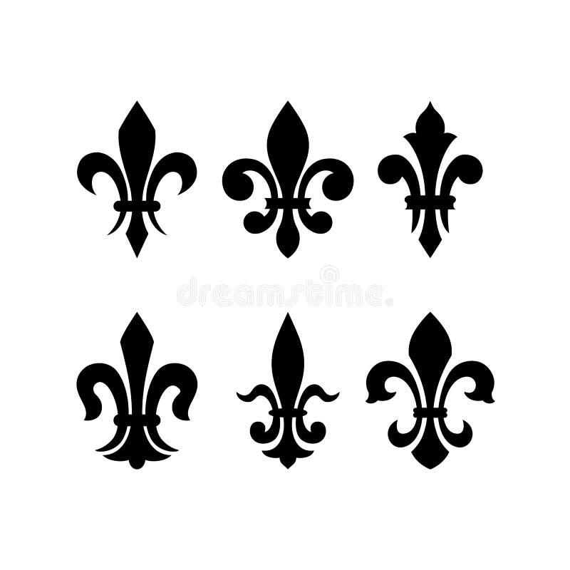 Flor de lis heráldica do símbolo ilustração royalty free