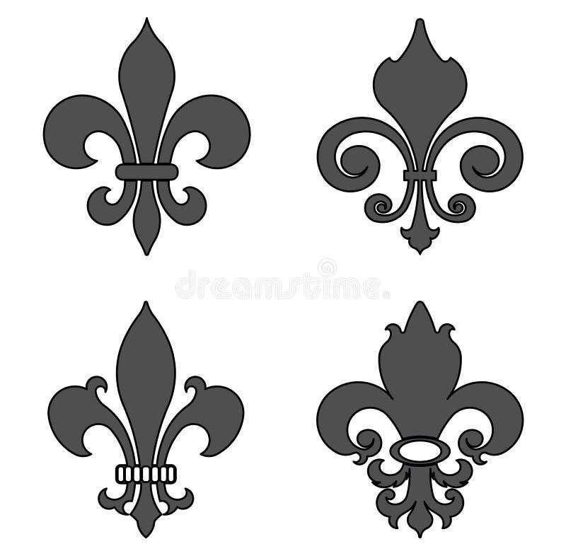 Flor de lis, símbolo heráldico da flor - vetor ilustração do vetor