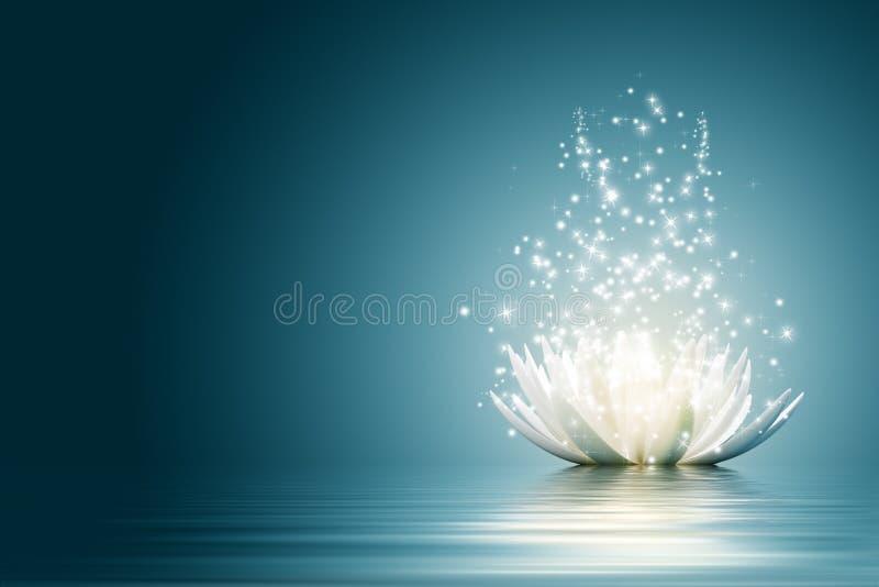 Flor de loto stock de ilustración