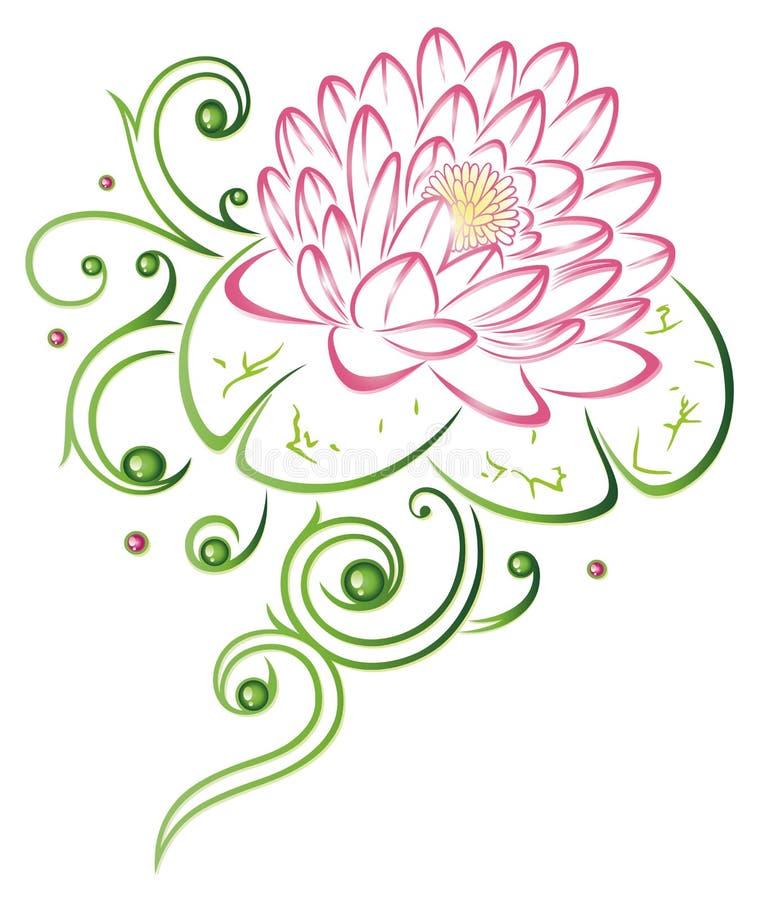 Flor de Lotus ilustração royalty free