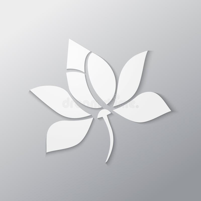 Flor de Lotus ilustração stock