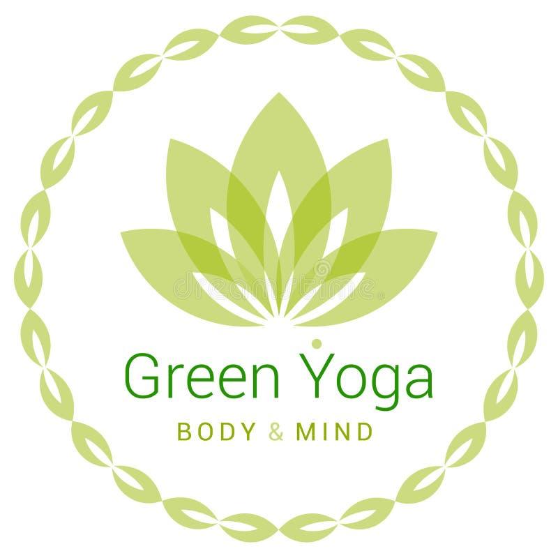 Flor de Lotus como símbolo de la yoga libre illustration