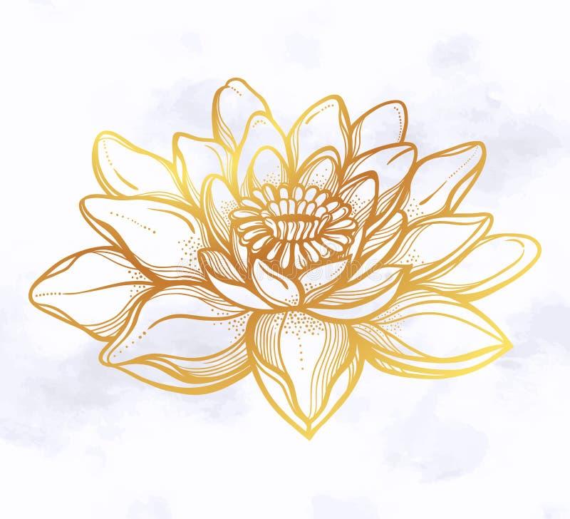 Flor de Lotus del vector, arte ?tnico libre illustration