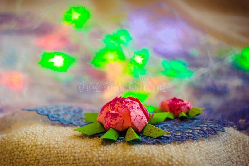 Flor de Lotus feita do papel fotografia de stock royalty free