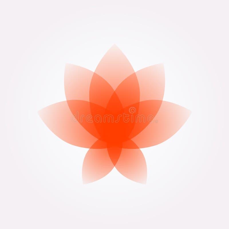 Flor de Lotus, logotipo, sinal Ícone liso da flor do vetor Imagem de Minimalistic em um fundo isolado Lotus para o estúdio da iog ilustração stock