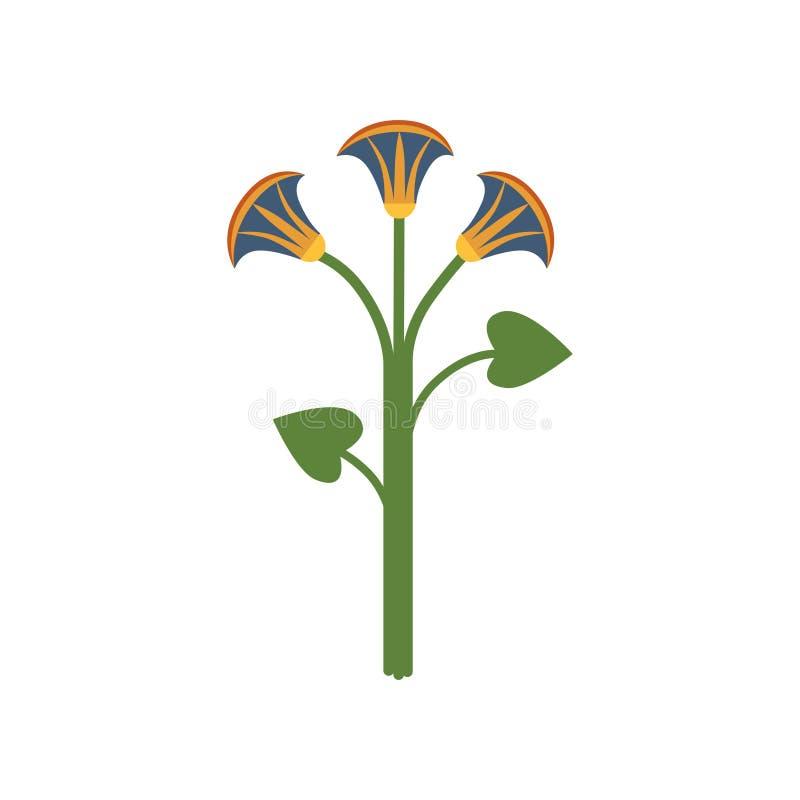 Flor de Lotus, símbolo da ilustração egípcia tradicional do vetor dos desenhos animados da cultura ilustração do vetor