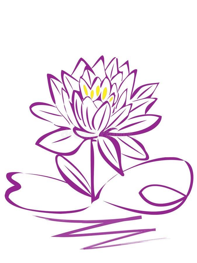 Flor de Lotuspurple ilustração stock