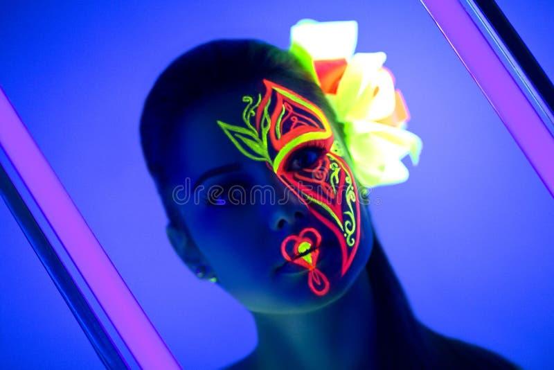 A flor de néon compõe imagem de stock royalty free