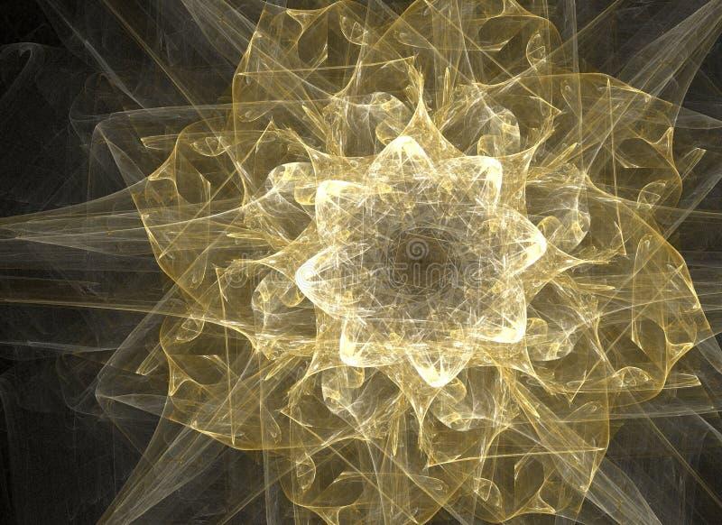 Flor de oro ilustración del vector