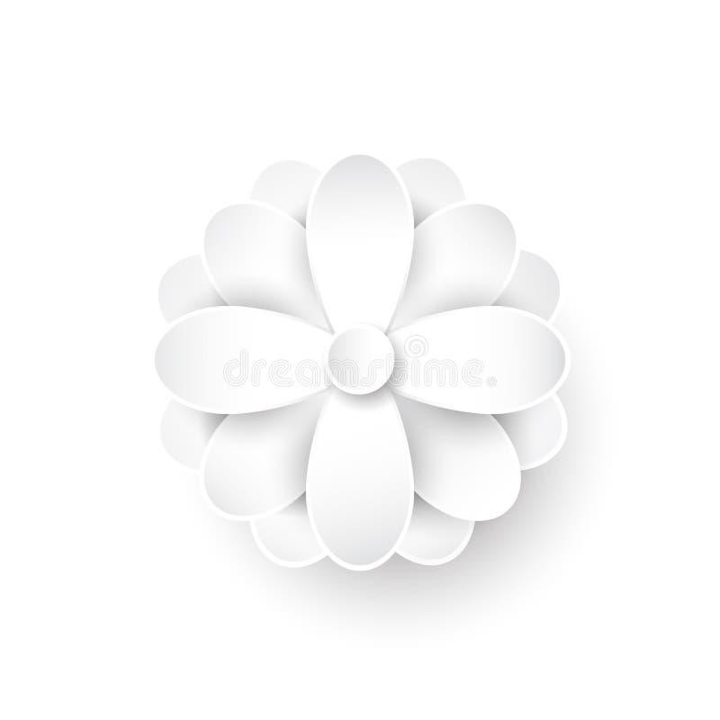 Flor de papel abstracta vector 3d libre illustration