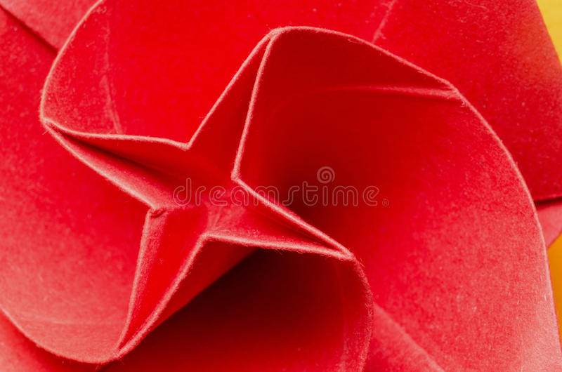 Flor de papel vermelha fotografia de stock