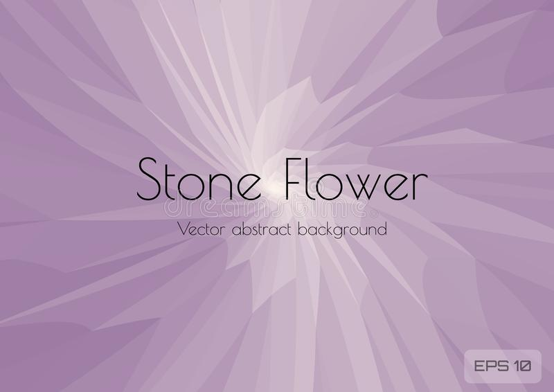 Flor de pedra do fundo lilás claro do sumário Triangula??o geom?trico que consiste em tri?ngulos com espa?o para o texto textured ilustração do vetor