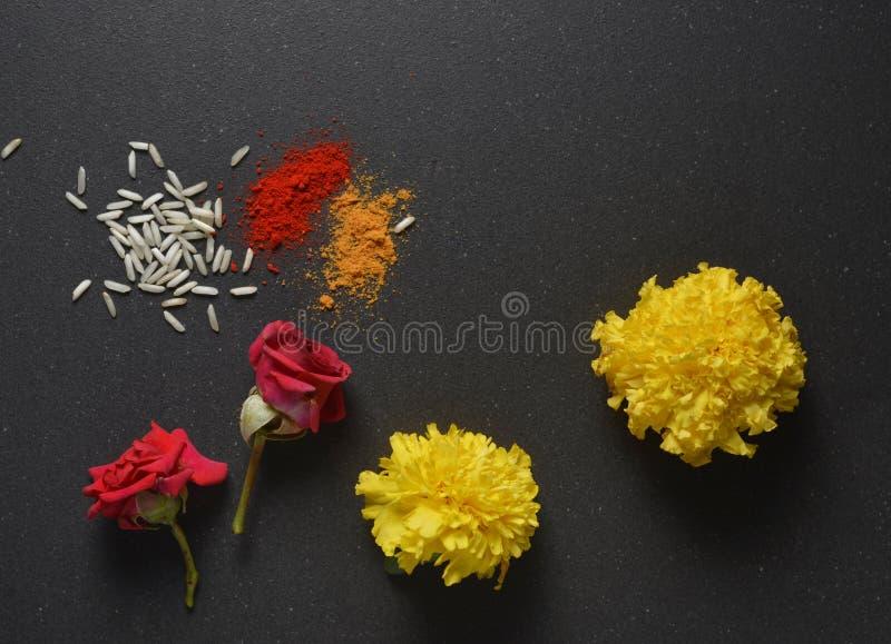 Flor de Pooja imagenes de archivo