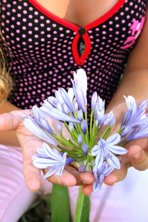 Flor de protecção fotografia de stock