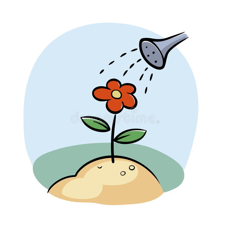 Flor de riego libre illustration
