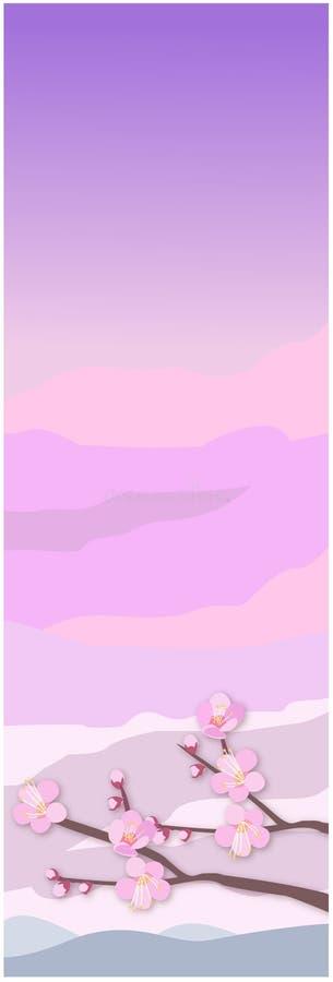 Flor de Sakura ilustração do vetor