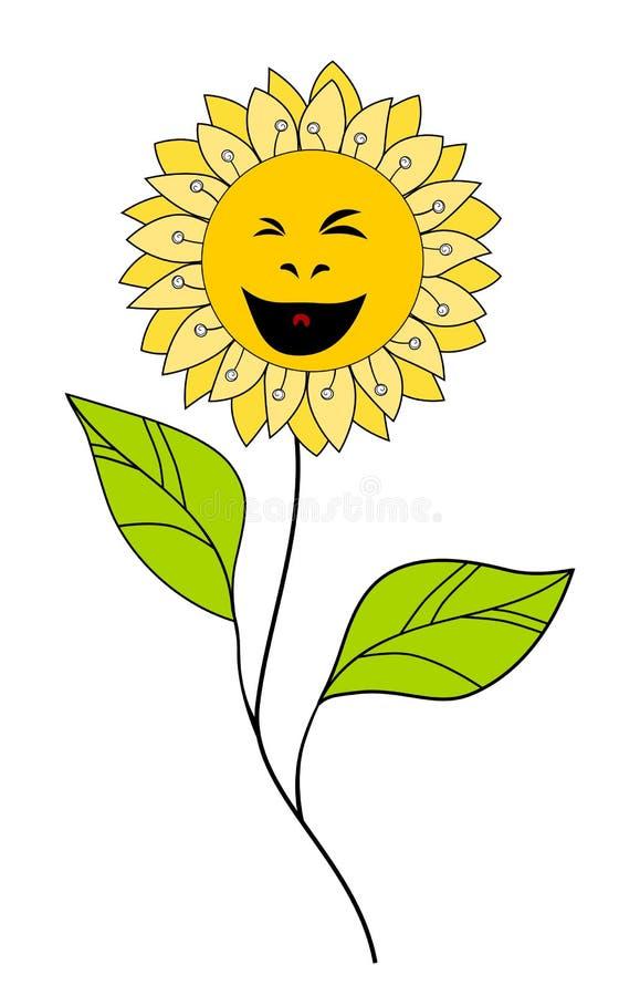 Flor de sorriso bonita, elemento do design floral isolado no branco ilustração royalty free