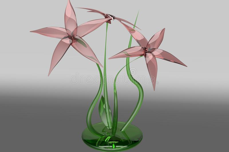 Flor de vidro imagens de stock