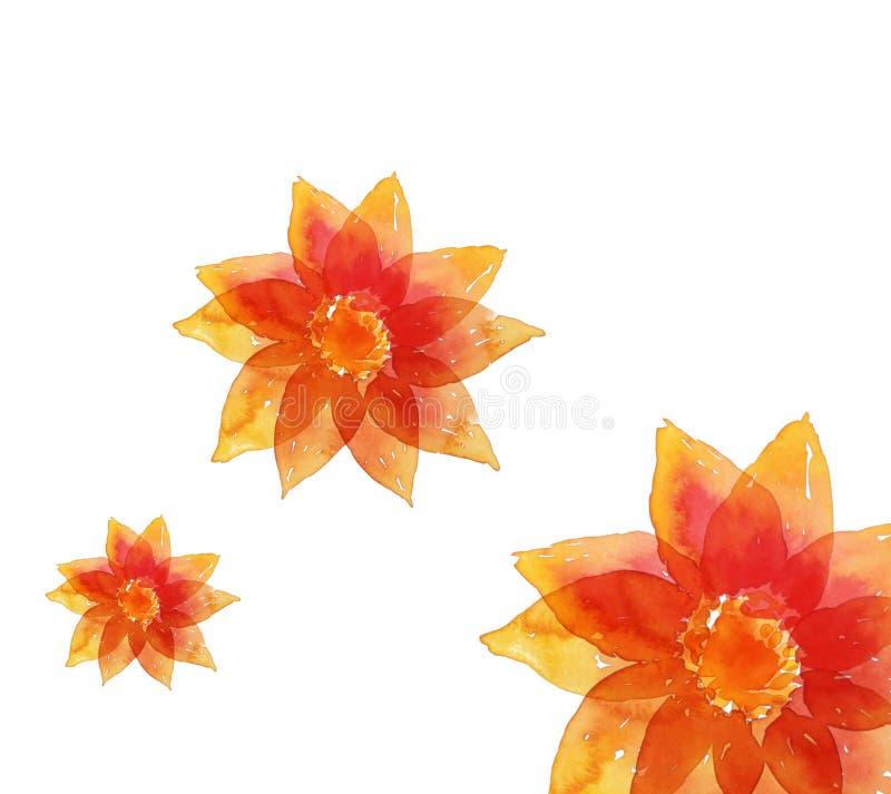 Flor de Wayercolor ilustração stock