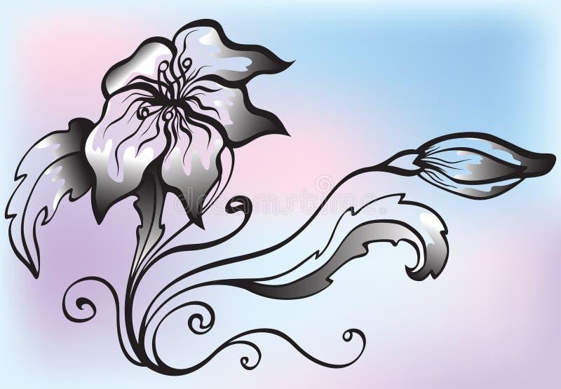 Flor decorativa ilustración del vector