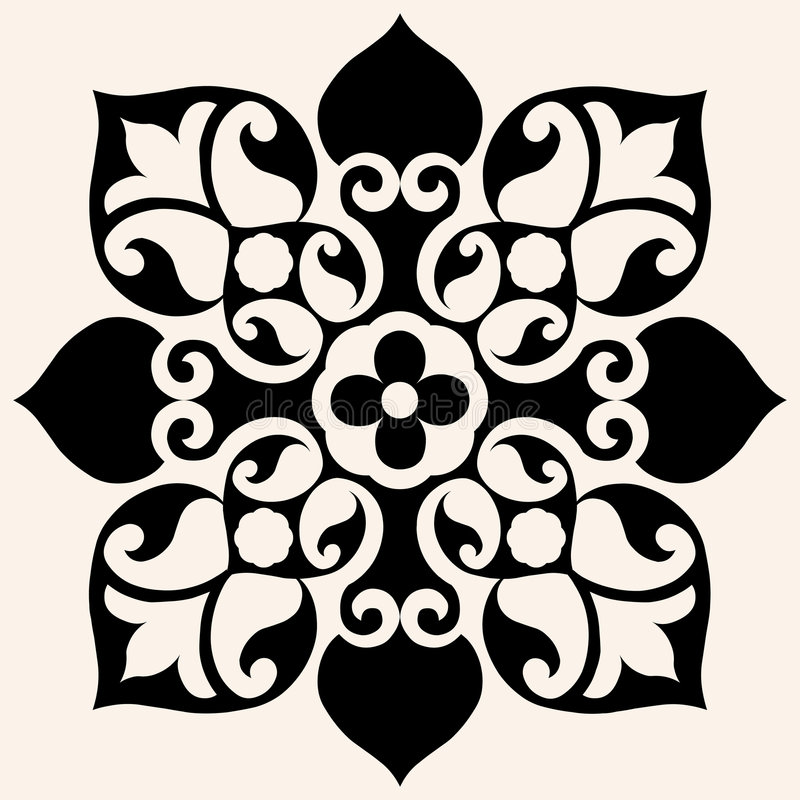 Flor decorativa ilustração do vetor