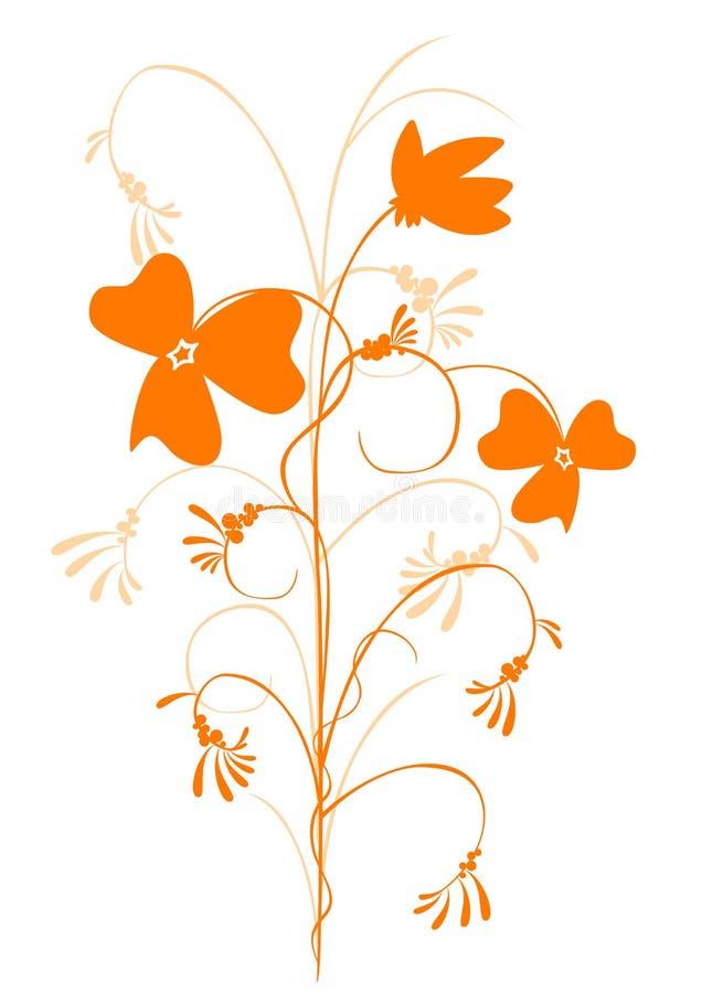 Flor decorativa alaranjada ilustração royalty free