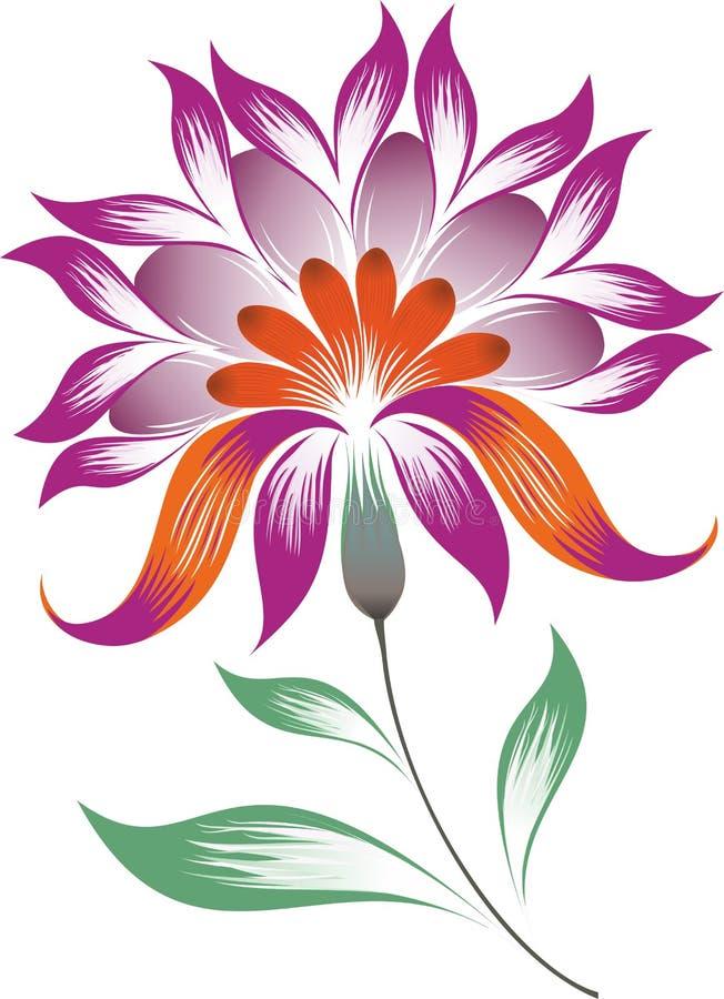Flor decorativa brillante ilustración del vector