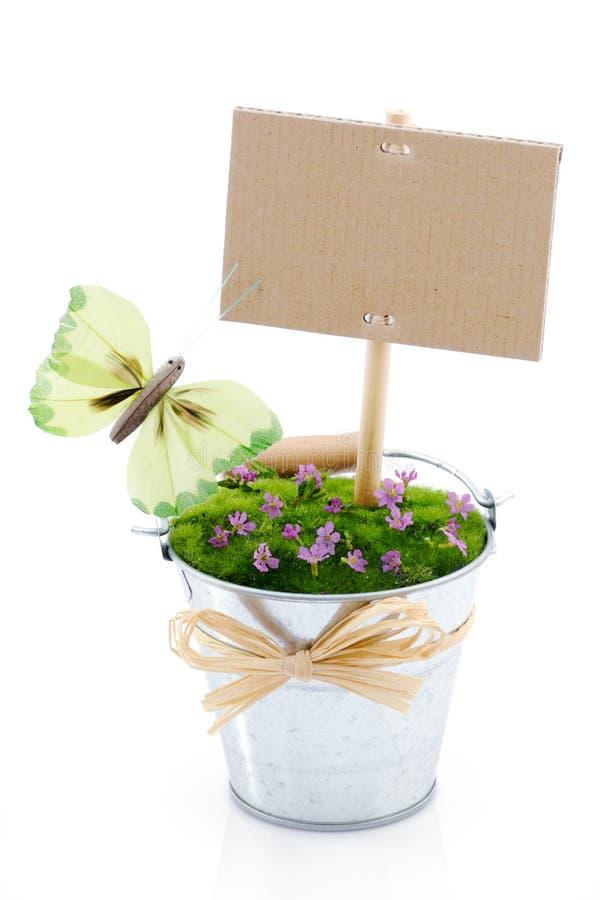 Flor decorativa com sinal imagens de stock royalty free