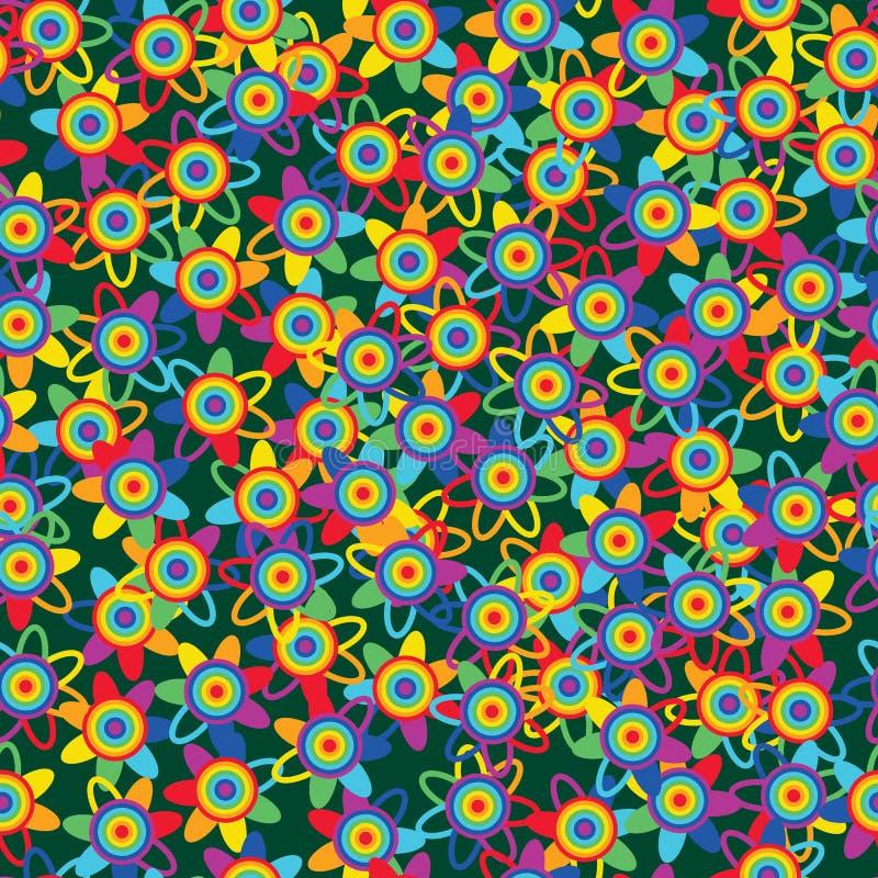 Flor del arco iris mucha modelo inconsútil libre illustration