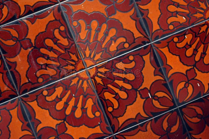 Flor del azulejo foto de archivo libre de regalías