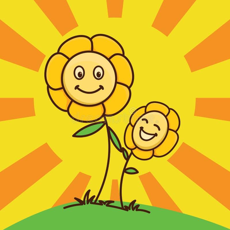 Flor del bebé con el fondo del brillo ilustración del vector