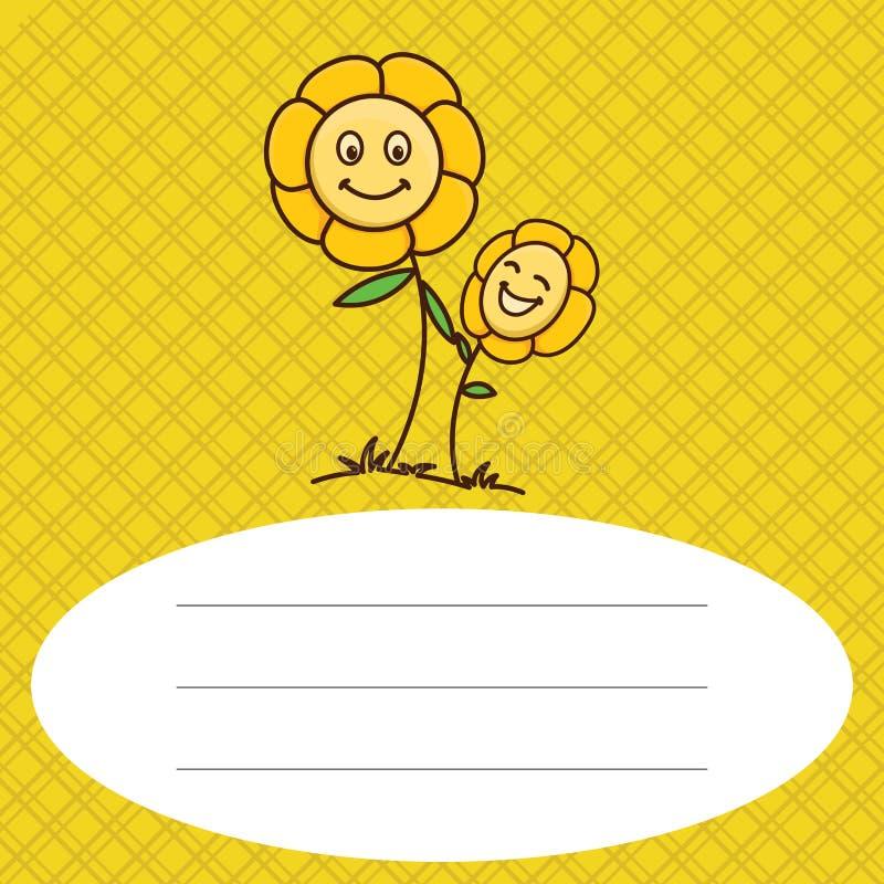 Flor del bebé con el fondo del modelo stock de ilustración