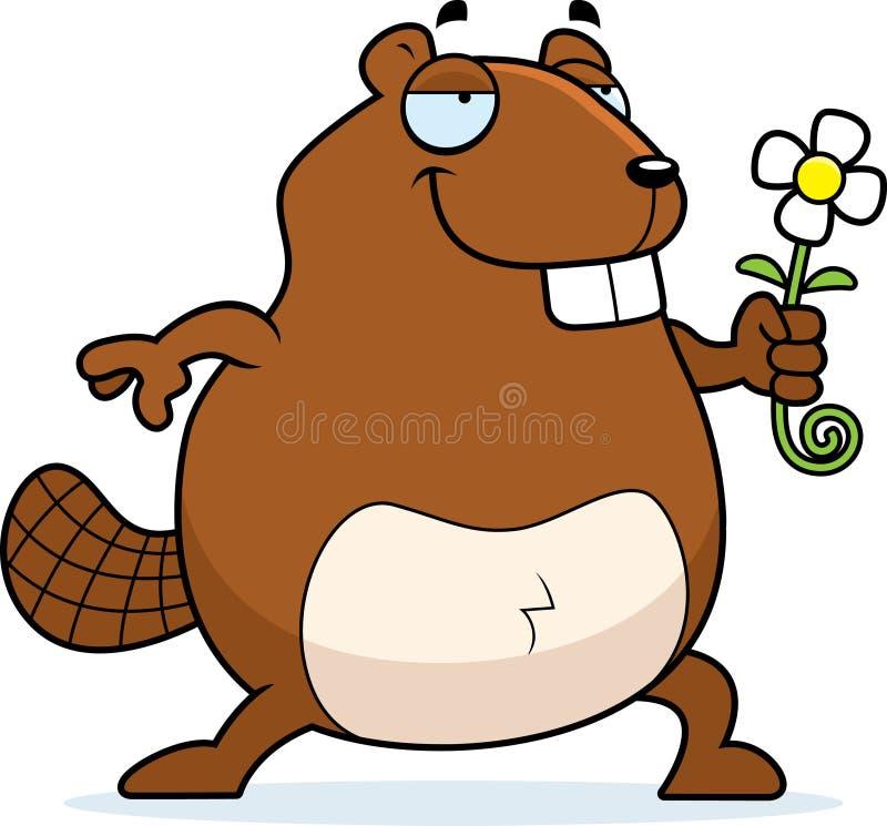 Flor del castor stock de ilustración