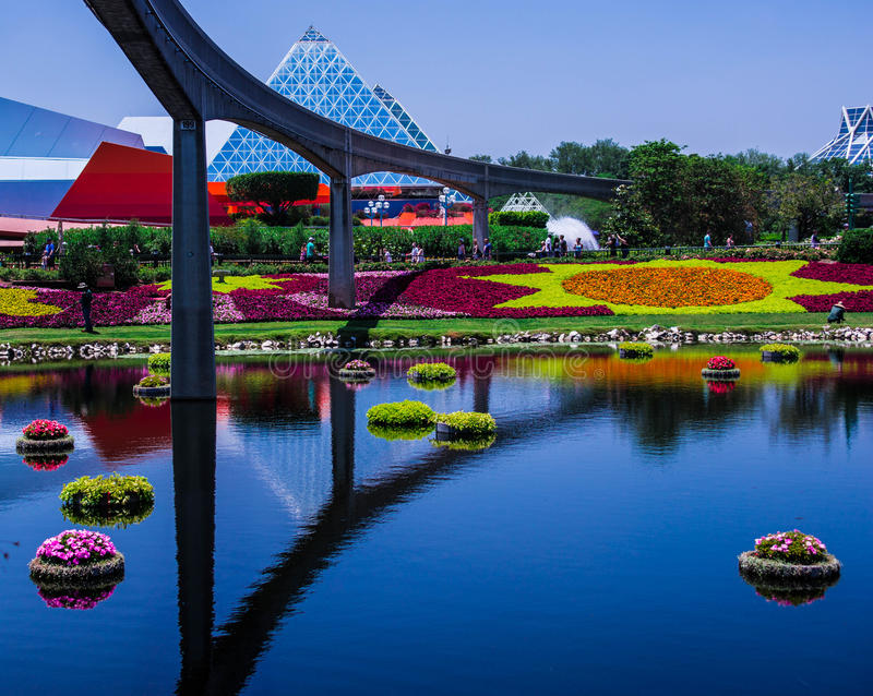 Flor del centro de Epcot y festival del jardín - Walt Disney World fotos de archivo libres de regalías