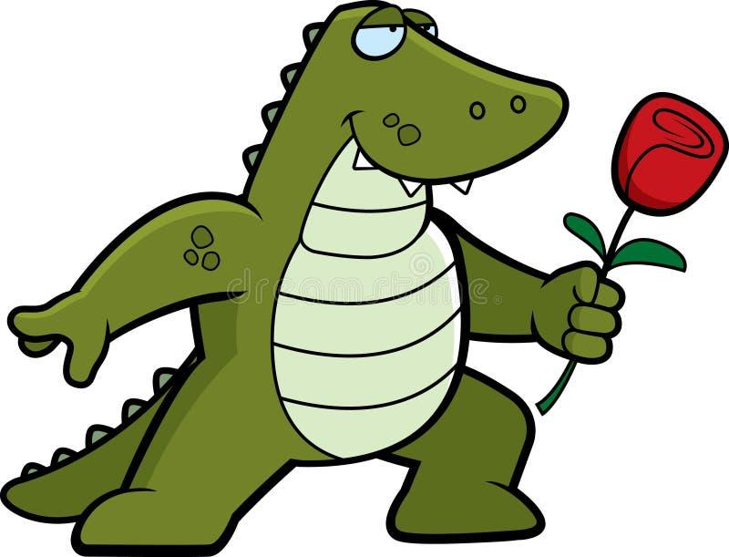 Flor del cocodrilo ilustración del vector