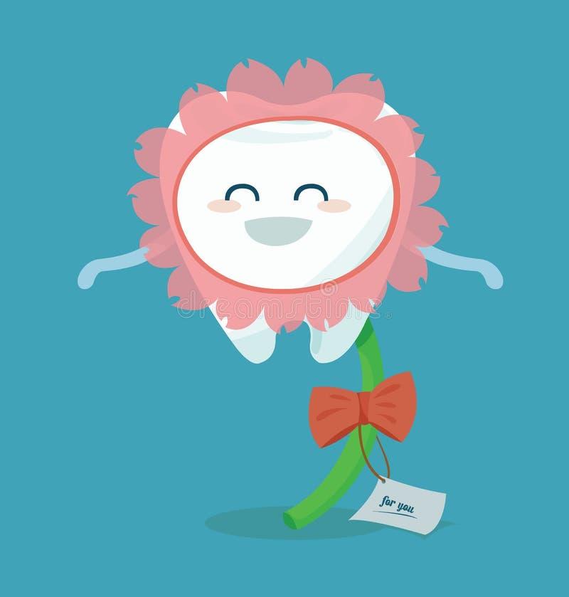 Flor del diente para usted libre illustration